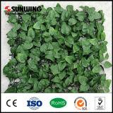 屋外紫外線保護された緑の草木のブッシュの人工的な葉のプラント両掛け