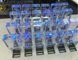 Movimentação instantânea de cristal da pena do USB do logotipo feito sob encomenda com luz do diodo emissor de luz