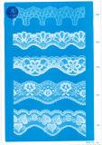 Merletto del tricot per vestiti/indumento/pattini/sacchetto/caso 3179 (larghezza: 7cm)