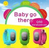 Perseguidor elegante del GPS del reloj de los cabritos SOS GPS con el SOS que llama el botón