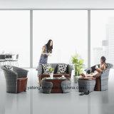 Софа мебели гостиницы мебели PU кожаный напольная установленная с алюминиевой рамкой (YT858)