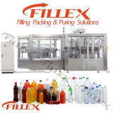 Animal familier Bottle Beverage Rinsing Filling Capping 3in1 Filling Machine