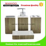 Nuovo Brown insieme granulare scuro dell'accessorio della stanza da bagno della porcellana della Cina