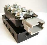 Inserire dell'elettrovalvola a solenoide e del gomito di prestazione della pompa ad aria compressa i montaggi