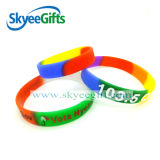 Alta qualità Rainbow Silicone Wristband con Customer Own Design