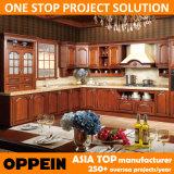 Oppein 2014 الصلبة الخشب مطبخ مجلس الوزراء خشب الكرز مع الأثاث