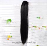 새로운 최신 판매 푹신한 클로 직모 가발 합성 물질 묶은 머리