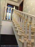方法現代ヨーロッパの自然な完全に実質の木製階段柵