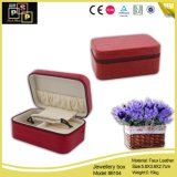 Red quadrato Stone Pattern Jewelry Box con Smooth Zipper (8104)