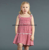 Form-Streifen-reizende Prinzessin Girls Dress Kids Dress