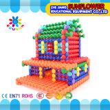 Bouwstenen van het Bamboe van het Stuk speelgoed van de Desktop van kinderen de Plastic