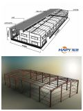 Construcción de acero en ganado con el equipo del sistema completo