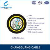 Tutti i dielettrici Auto-Supportano il cavo ottico esterno di fibra ottica della fibra del cavo ottico di singolo modo della portata del filato 100m di Aramid del cavo di Ing (ADSS)