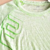 Womenのための50%ポリエステル50% Rayon Tee Shirt Running Wear