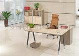 Таблица компьютера самомоднейшей структуры металла стола таблицы офиса деревянная (SZ-ODT602)