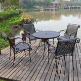 Conjunto del jardín del vector de cena de los conjuntos de los muebles 5PCS del jardín y de la fundición de aluminio de la silla