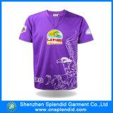 남자를 위한 대량 도매 자주색 보통 인쇄된 스포츠 t-셔츠