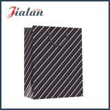 Glatter lamellierter Kunstdruckpapier-schiefe Streifen-kaufengeschenk-Papierbeutel