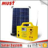 kit solari portatili di CC di 10W 20W 30W per il campeggio con la radio MP3