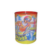 Rundes Pibesi Middle Size Perfume Tin Box 96mm Diameter