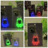Het opvlammende Licht van de Hond op de Markering van het Licht van de Veiligheid van de LEIDENE Kraag van het Huisdier