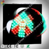 Croix-Rouge de lentille de toile d'araignee de 200mm et feu de signalisation vert de flèche