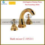 Grifo de bañera de oro de la colada de la manera del cuarto de baño 3 de Rose de las mercancías sanitarias