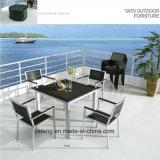 경쟁가격 Chair&Table (YT387)의 세트를 식사하는 최고 판매 옥외 정원 Aluminum+PS 나무로 되는 가구