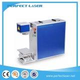 Machine portative d'inscription de laser de fibre en métal en aluminium en acier de tonnelier