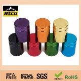 uso plástico colorido del frasco 32oz para el alimento
