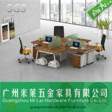 Heißer Verkaufs-Stahlrahmen-Büro-Schreibtisch für 4 Sitze mit Schrank