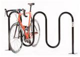 Bici 5 que estaciona el estante de acero al aire libre de la bici de la onda