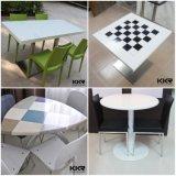 Acrílico Food Court Dining Table Solid Surface, Café Silla Mesa