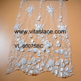 Ivory 3D Flower Rayon Lace Fabric Vl-60070bc