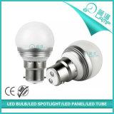 Lampe en gros B22 E14 E27 de globe de l'aluminium 5W G45 DEL reconnue
