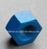 ASTM A194 2h schwere Sechskantmutter mit teflonüberzogenem (blau)