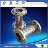 Boyau ondulé de tressage/canalisation/tube de métal flexible de fil de l'acier inoxydable Ss304/Ss316L