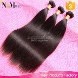 Jungfrau Maylasian Haar-rollt das gerade 4 Bündel-Abkommen-preiswerte gerade Menschenhaar malaysische gerades Haar-Bündel zusammen
