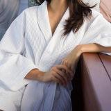 Robe longue d'armure de gaufre de ramassage d'hôtel, coton 100% (DPH7425)