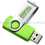 USB 2.0 pollice bastone di memoria Flash Pen Drive bagagli con logo stampato (307)