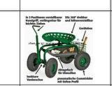 Assento do trabalho do rolamento do carro de jardim com a plantação de jardinagem resistente da bandeja da ferramenta nova