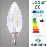 Bulbo do filamento do diodo emissor de luz de C35 E14 2W 4W