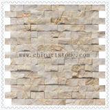 Mosaico 3D de mármore rachado da natureza para a parede da decoração