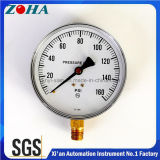 6 pulgadas 160 psi común de gas o líquidos manómetros con latón Hpb59-1 conector
