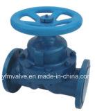 Выровнянный мембранный клапан плотины для химической промышленности