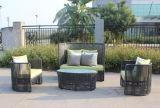 Foshan-im Freienmöbel PET Rattan-Sofa-Set