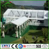 Barraca de alumínio do famoso do jardim do casamento do telhado transparente para o partido 10m