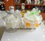 Tête impériale de modèle de bougie en verre décorative bon marché attrayante de choc formée