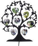 GroßhandelsSublimation Blank Decoration MDF Wood Foto Frame Double Side White Printing 7hearts Love Tree