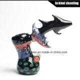 Bebedoiros automáticos de vidro coloridos do martelo da arte para a tubulação de fumo de vidro do cachimbo de água do tabaco de tubulações da mão